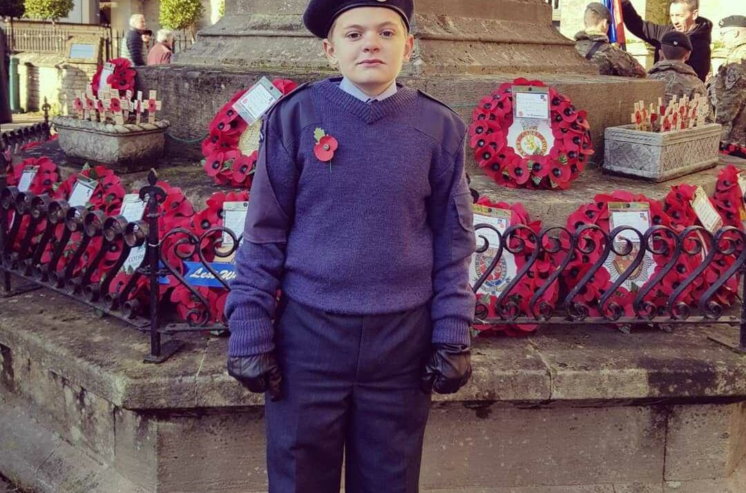 Josh Makes The Peak Proud in the Cirencester Remembrance Parade